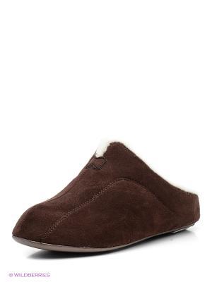 Тапочки Pansy. Цвет: темно-коричневый