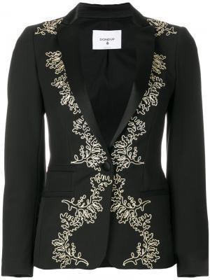 Блейзер Elysia с вышивкой Dondup. Цвет: чёрный