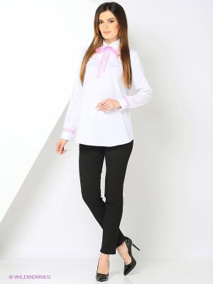 Блуза UNIOSTAR. Цвет: белый, розовый