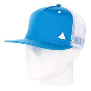 Бейсболка с сеткой True Spin 2 Tone Blank Trucker Cap Cyan/White TrueSpin. Цвет: белый,синий
