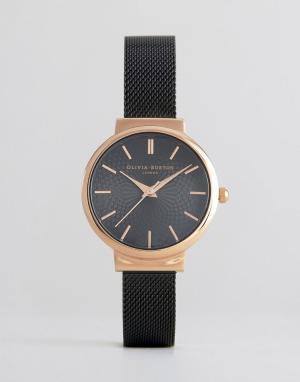 Olivia Burton Черные часы Hackney. Цвет: черный