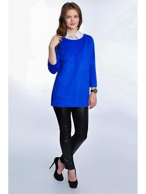 Блузка RISE. Цвет: синий