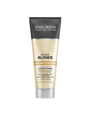 Увлажняющий активирующий кондиционер для светлых волос Sheer Blonde, 250 мл John Frieda. Цвет: белый