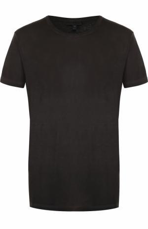 Хлопковая футболка с круглым вырезом Belstaff. Цвет: черный