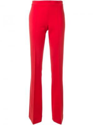 Расклешенные брюки Victoria Beckham. Цвет: красный