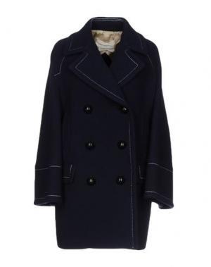 Пальто AQUILANO-RIMONDI. Цвет: темно-синий