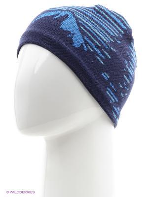 Шапка BUFF KNITTED HATS LAKI  BLUE. Цвет: темно-синий, голубой