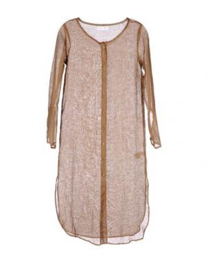 Платье длиной 3/4 WEILI ZHENG. Цвет: хаки