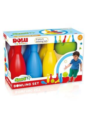Мега набор боулинг из 6 кеглей и 1 шаром DOLU. Цвет: синий, желтый, красный