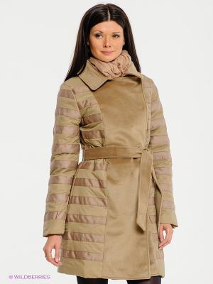 Пальто La Reine Blanche. Цвет: бежевый