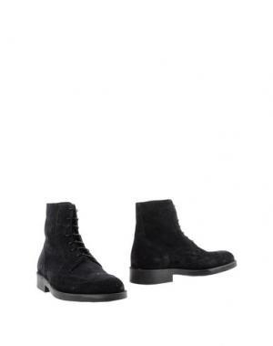 Полусапоги и высокие ботинки BORGO MEDICEO. Цвет: темно-синий