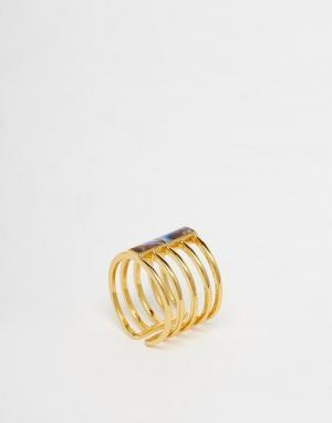 Orelia Решетчатое кольцо Avalone. Цвет: золотой