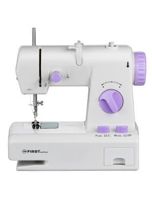 Швейная машинка FIRST 5700-1 Электропитание :  DC 6В, 800 мА/ от 4 батареи АА Purple. Цвет: белый, фиолетовый