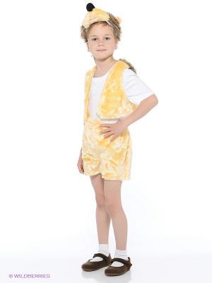 Карнавальный костюм Ежик Батик. Цвет: желтый