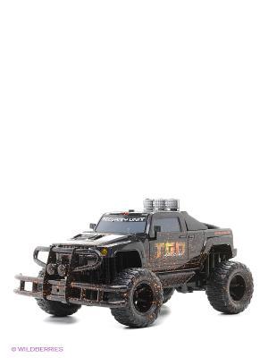 Внедорожник Трофи-рейд 4*4 р/у, 1:10, надувные колеса,  4 канала, аккум. Эффект загрязненной машины Пламенный мотор. Цвет: черный