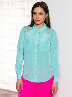 Блузка People. Цвет: бирюзовый