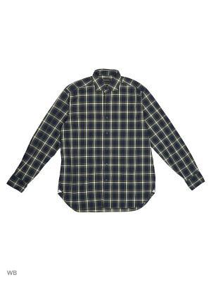 Рубашка MERCEDES-BENZ. Цвет: синий, желтый, зеленый