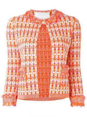 Пиджак с кисточками Giada Benincasa. Цвет: жёлтый и оранжевый