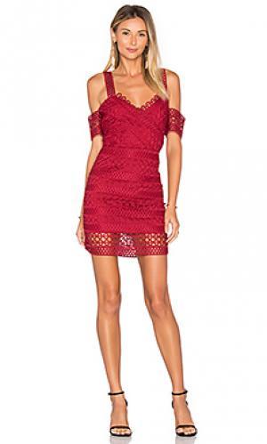 Платье amelie SAYLOR. Цвет: красный