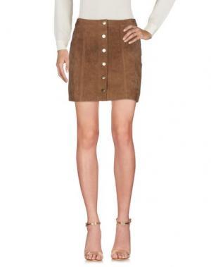 Мини-юбка DRY LAKE.. Цвет: коричневый