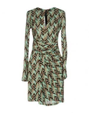 Короткое платье 1-ONE. Цвет: бирюзовый