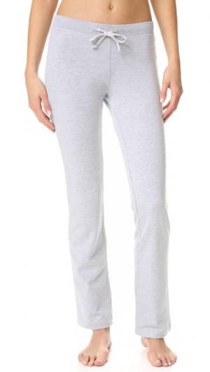 Пижамные брюки из пушистого флиса Love+Grace. Цвет: серый меланж