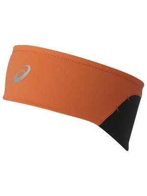 Повязка на голову WINTER HEADBAND ASICS. Цвет: оранжевый