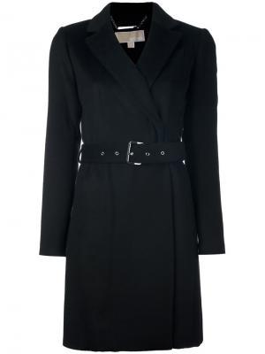 Пальто кроя слим с поясом Michael Kors. Цвет: чёрный
