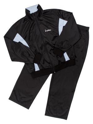 Костюм спортивный nikkas. Цвет: черный, голубой