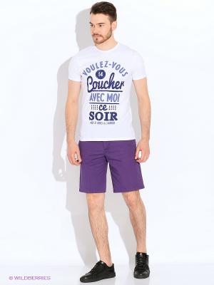 Шорты Oodji. Цвет: фиолетовый