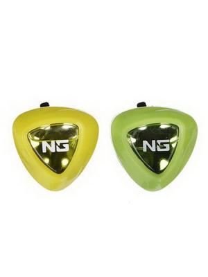 Ароматизатор на дефлектор double fresh 2 в 1, лимон/ мята New Galaxy. Цвет: желтый, зеленый