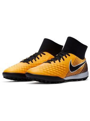 Бутсы MAGISTAX ONDA II DF TF Nike. Цвет: оранжевый