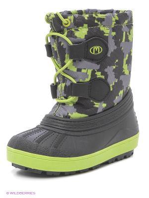 Ботинки Mursu. Цвет: зеленый