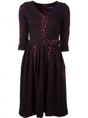 Жаккардовое расклешенное платье Samantha Sung. Цвет: чёрный
