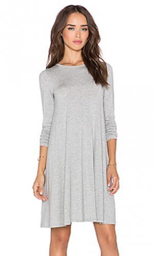 Мини платье BLQ BASIQ. Цвет: серый
