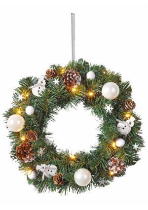 Рождественский венок Heine Home. Цвет: зеленый