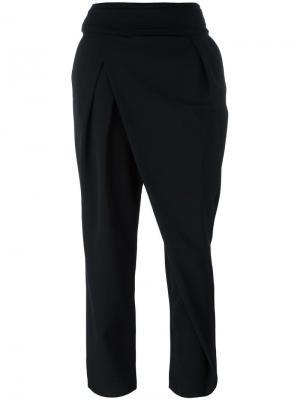 Укороченные брюки с запахом Federica Tosi. Цвет: чёрный