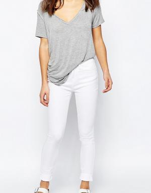 Waven Petite Укороченные джинсы скинни Freya. Цвет: белый