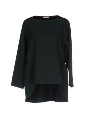 Блузка DEVOTION. Цвет: темно-зеленый