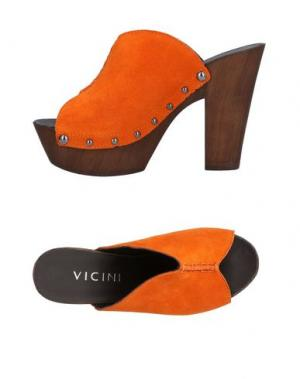 Мюлес и сабо VICINI. Цвет: оранжевый