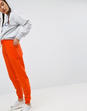 ASOS Джоггеры с завязкой. Цвет: оранжевый
