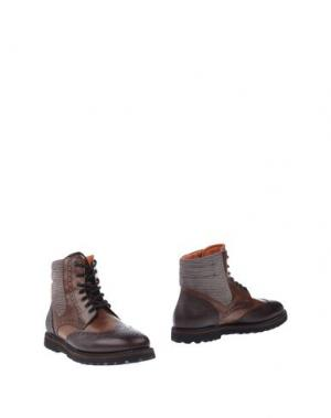 Полусапоги и высокие ботинки FRANCESCHETTI. Цвет: какао