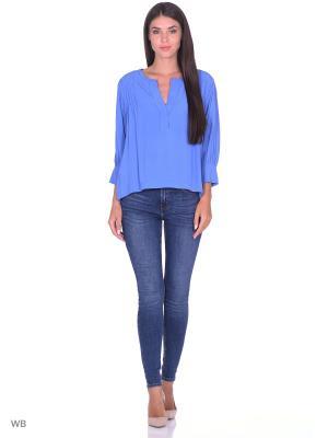 Блузка Motivi. Цвет: синий