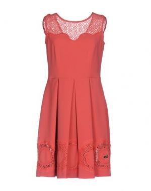 Короткое платье SONIA FORTUNA. Цвет: коралловый