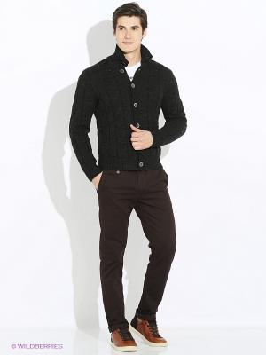 Кардиган JB casual. Цвет: темно-серый