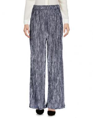 Повседневные брюки SOALLURE. Цвет: серебристый