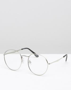 Jeepers Peepers Круглые очки. Цвет: серебряный