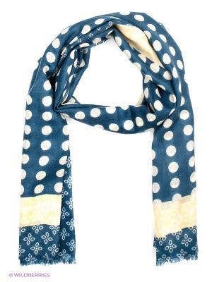 Платок Moltini. Цвет: серо-голубой, светло-бежевый, светло-желтый