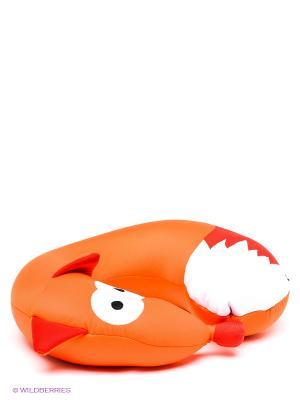 Подушка-подголовник Лиса MAXITOYS. Цвет: оранжевый