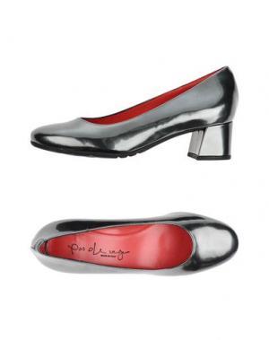 Туфли PAS DE ROUGE. Цвет: свинцово-серый